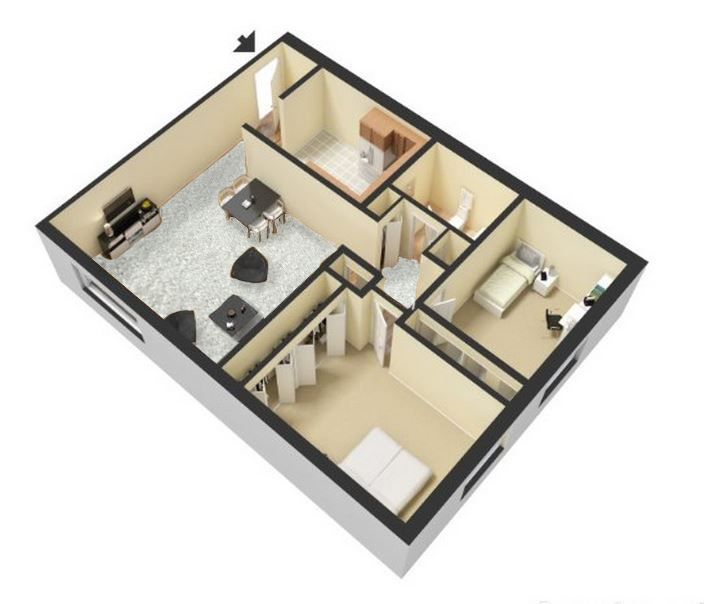 Two Bedroom Floor Plans Greenbrook Apartments